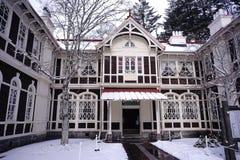 El aspecto del hotel viejo de Mikasa fotografía de archivo