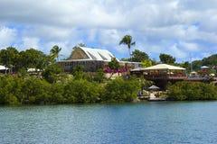 El astillero de Nelson en Antigua, del Caribe Imagen de archivo
