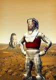 El astronauta encendido estropea stock de ilustración