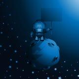 El astronauta se coloca en el asteroide Fotos de archivo