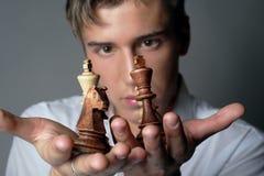 El asunto es ajedrez Fotografía de archivo libre de regalías