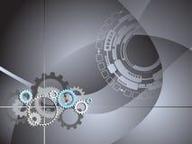 El asunto industrial de la tecnología engrana el fondo Foto de archivo libre de regalías