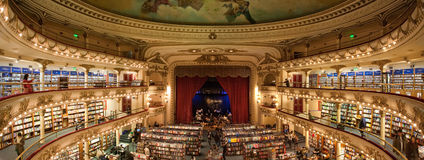 El Ateneo Bookstore stock image