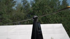 El aterrizaje del helicóptero o saca almacen de metraje de vídeo