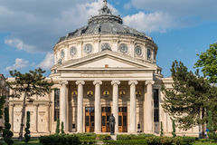 El Athenaeum rumano George Enescu (Ateneul romano) Imágenes de archivo libres de regalías