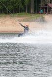 el atleta entra para wakeboarding el 28 de mayo de 2016 Imagen de archivo