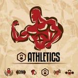 El atletismo, gimnasio etiqueta la colección Foto de archivo libre de regalías