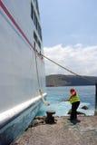 El atracar en el puerto Fotografía de archivo