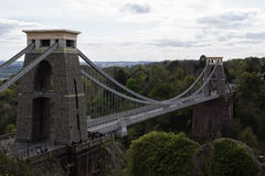 El atravesar de Clifton Suspension Bridge Fotografía de archivo libre de regalías