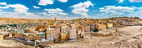 EL Atteuf, eine alte Stadt im m-` Zab-Tal in Algerien lizenzfreie stockfotografie