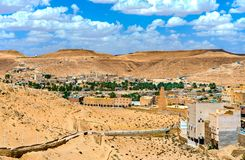 El Atteuf, an old town in the M`Zab Valley in Algeria. El Atteuf, an ancient berber town in the M`Zab Valley in Algeria royalty free stock photos