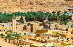 EL Atteuf, una vecchia città nella valle di Zab del ` di m. in Algeria immagine stock libera da diritti