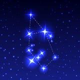El auriga de la constelación en el cielo estrellado de la noche Ejemplo del vector del concepto de astronomía Fotografía de archivo libre de regalías