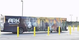 El autobús del encuentro de la arca Fotografía de archivo