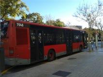 El autobús en España Foto de archivo libre de regalías