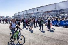 El autodrom de Sochi, las fans de la fórmula 1 está esperando los argumentos Fotografía de archivo