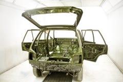 El automóvil crea y pinta el taller para requisitos particulares la India Foto de archivo