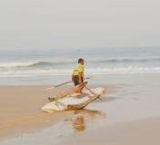 El aventurar en los mares Imagen de archivo libre de regalías