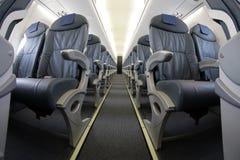El avión de pasajeros asienta las filas 012 Fotos de archivo