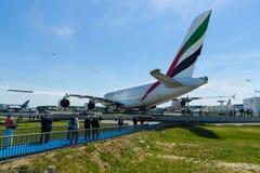 El avión de pasajeros más grande del pasajero del mundo Airbus A380 Imagenes de archivo