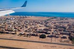 El avión de pasajeros sale Egipto imagen de archivo