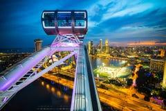 El aviador de Singapur, más grande rueda adentro el mundo Fotografía de archivo