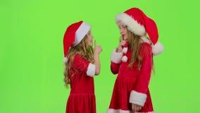 El ayudante de Papá Noel dice reservado a sus duendes Pantalla verde almacen de video