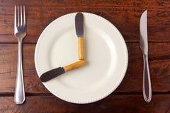 El ayuno es un método de la pérdida de peso cuya meta es hacer que el cuerpo utiliza las tiendas gordas fotografía de archivo libre de regalías