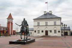 El ayuntamiento de Warka localizó cerca de Varsovia, Polonia Imagenes de archivo