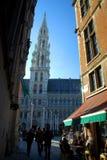 El ayuntamiento en Grand Place. Bruselas, Bélgica Imagen de archivo