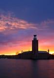 El ayuntamiento, Estocolmo Imágenes de archivo libres de regalías