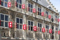 El ayuntamiento, Gouda, Países Bajos Imagenes de archivo