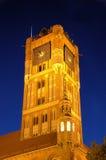 El ayuntamiento por noche en Torun (Polonia) Imagen de archivo