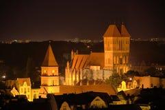 El ayuntamiento por noche en Torun (Polonia) Foto de archivo libre de regalías