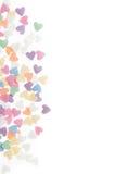 El azúcar asperja los corazones de los puntos, decoración para la torta y panadería, como fondo Fotos de archivo libres de regalías