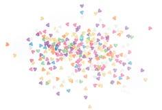 El azúcar asperja los corazones de los puntos, decoración para la torta y panadería, como fondo Fotografía de archivo libre de regalías