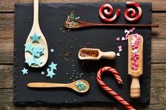 El azúcar asperja puntos Fotografía de archivo libre de regalías