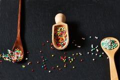 El azúcar asperja puntos Fotografía de archivo