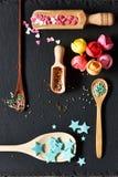 El azúcar asperja puntos Foto de archivo libre de regalías