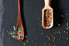 El azúcar asperja puntos Imagenes de archivo