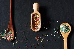 El azúcar asperja puntos Imagen de archivo libre de regalías