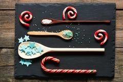 El azúcar asperja puntos Imagen de archivo