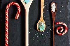 El azúcar asperja puntos Fotos de archivo libres de regalías