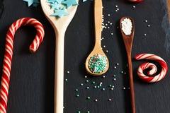 El azúcar asperja puntos Imágenes de archivo libres de regalías
