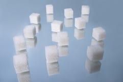 El azúcar cubica el montón 1 Foto de archivo libre de regalías