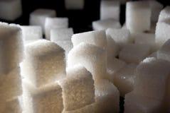 El azúcar cubica la pila Imagen de archivo