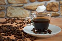 El azúcar de Coffe libera Imágenes de archivo libres de regalías