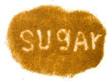 El azúcar de la palabra Imagen de archivo libre de regalías