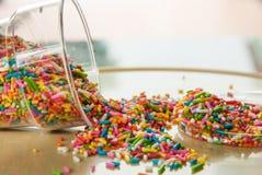El azúcar del caramelo asperja Fotografía de archivo libre de regalías