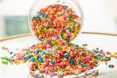 El azúcar del caramelo asperja Imagenes de archivo